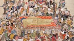 お釈迦 (しゃか) さまが 沙羅双樹 (さらそうじゅ) の下で入滅されたと伝えられる日に、その時のありさまを描いた涅槃図をかけて営む報恩追慕の法会です。